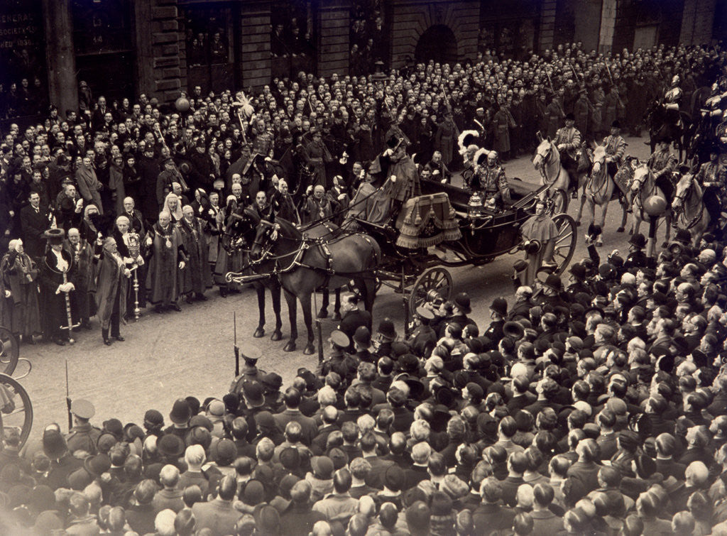 Detail of View showing part of the Jubilee Procession of King George V and Queen Mary, May 6 1935 by Anonymous