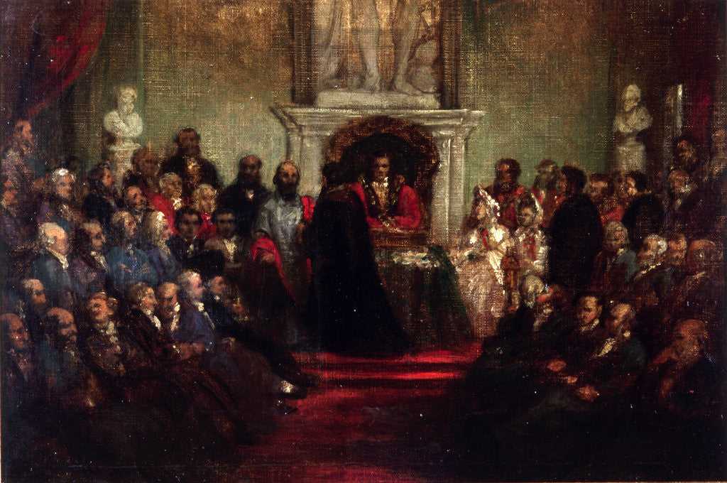 Detail of Presentation of the Freedom of the City to General Garibaldi, April 20 1864' by Sir John Gilbert