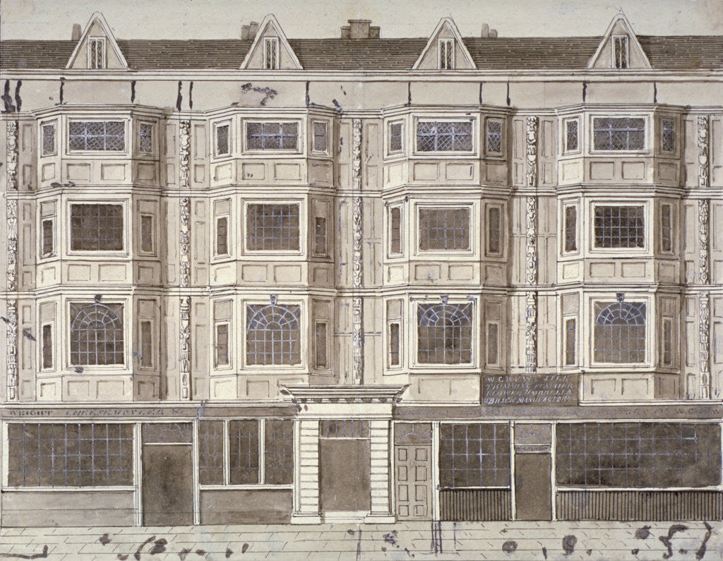 Detail of Aldersgate Street, London, c1820(?) by Anonymous