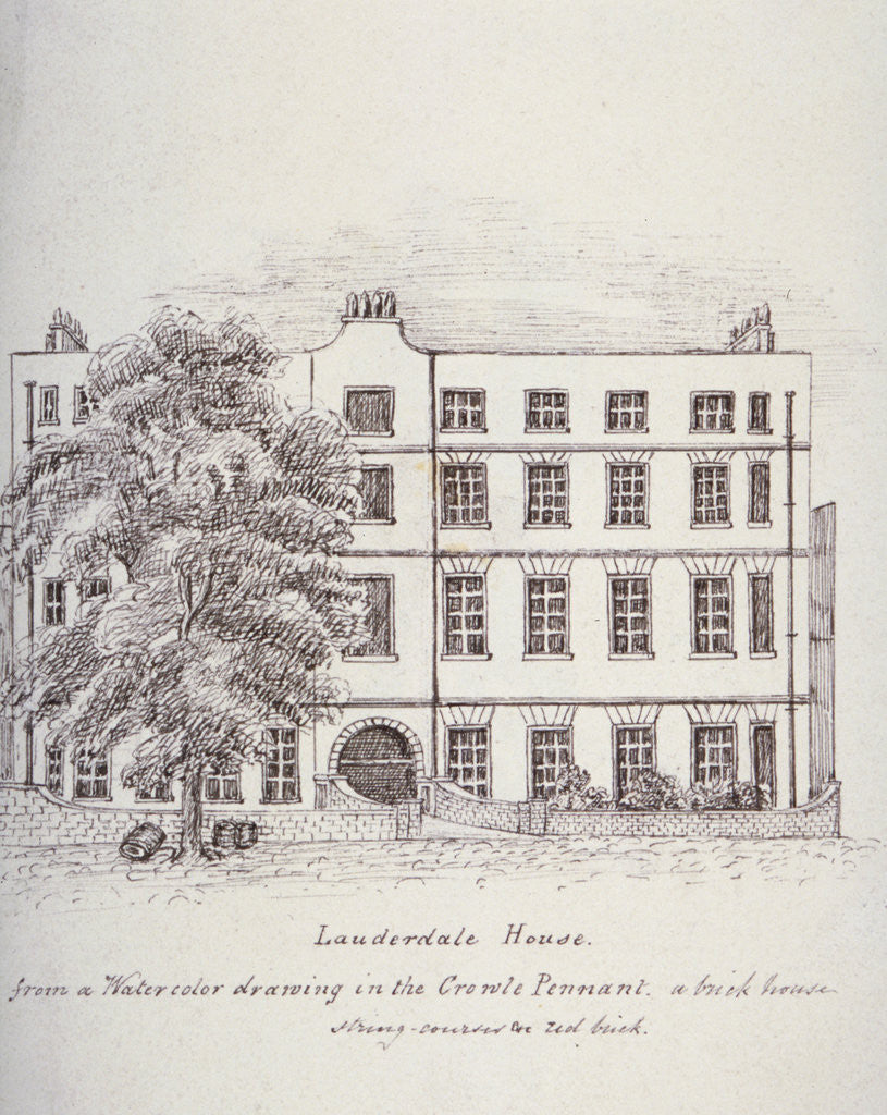 Detail of Lauderdale House, Aldersgate Street, London, c1800(?) by Mary Anne Hedger