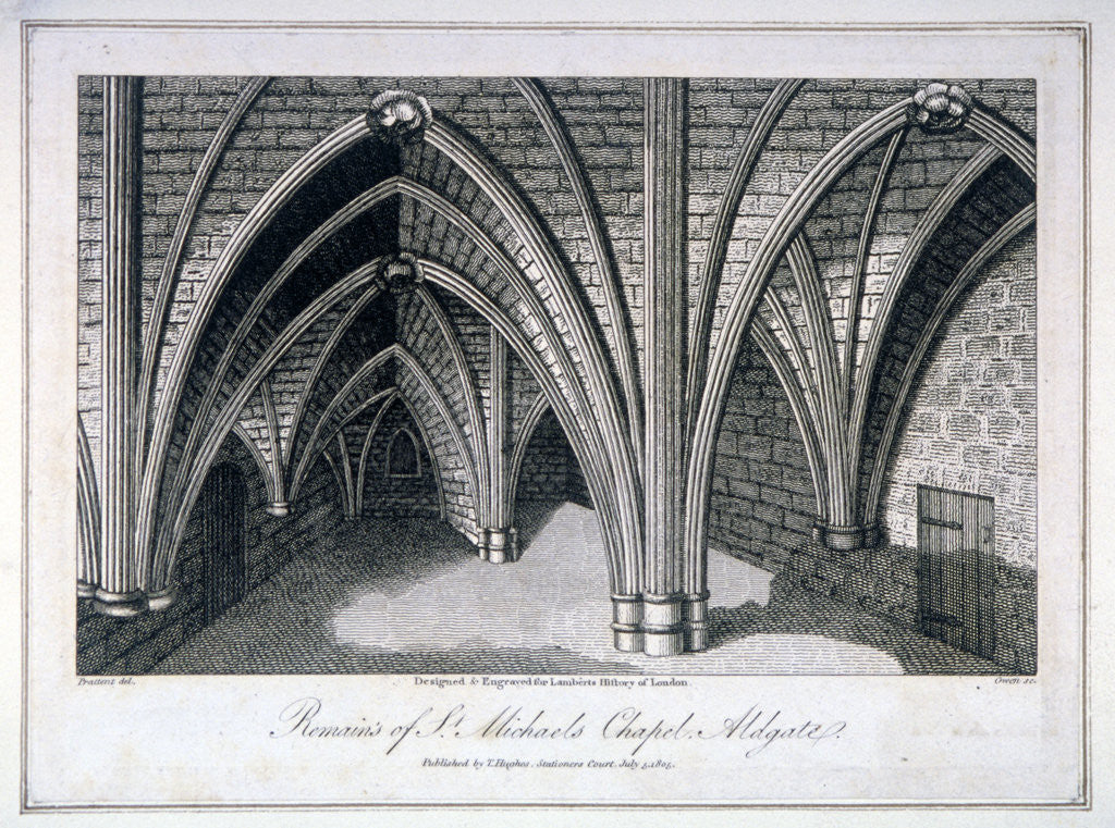 Detail of St Michael's Crypt, Aldgate, London by Samuel Owen