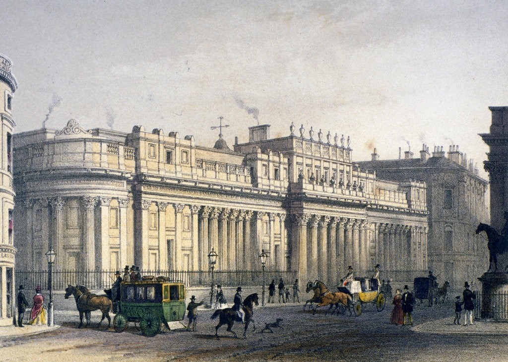 Detail of View ofThe Bank of England, City of London by Jules Louis Arnout