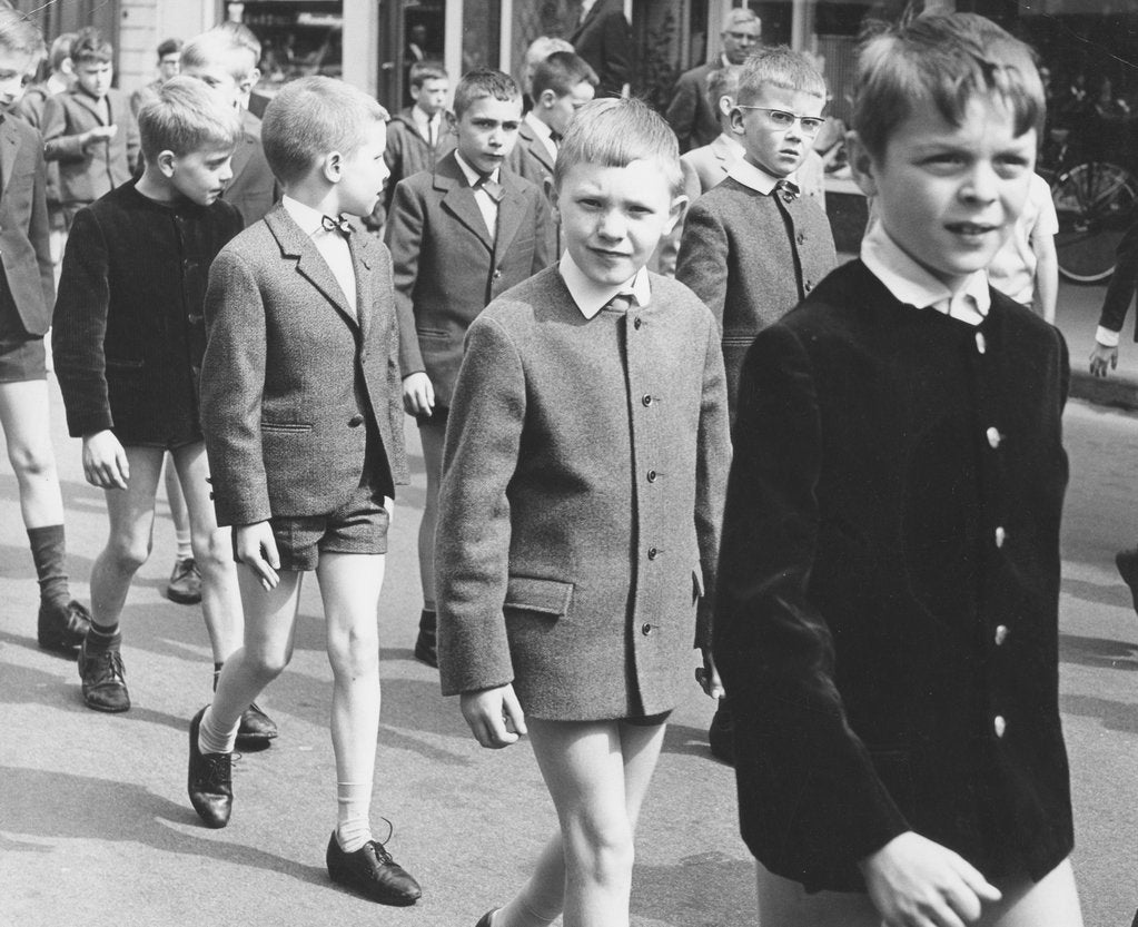 Detail of Boys in uniform, c1960s by Tony Boxall