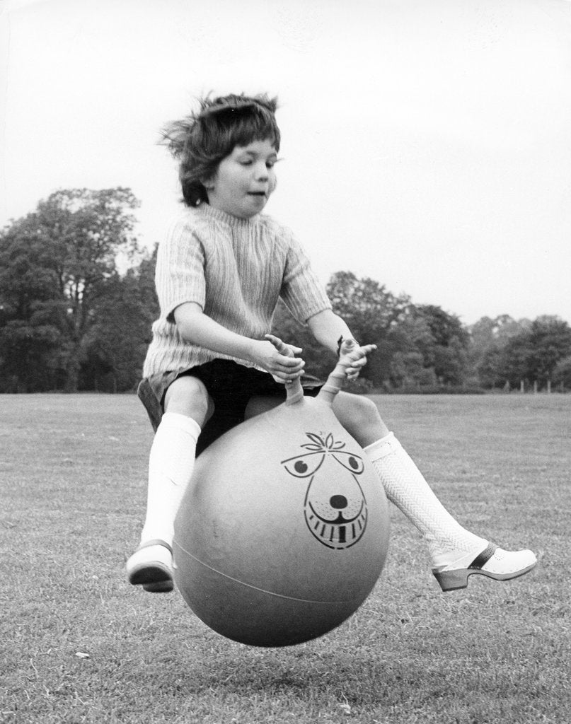 Detail of Girl on a space hopper, 1970s by Tony Boxall