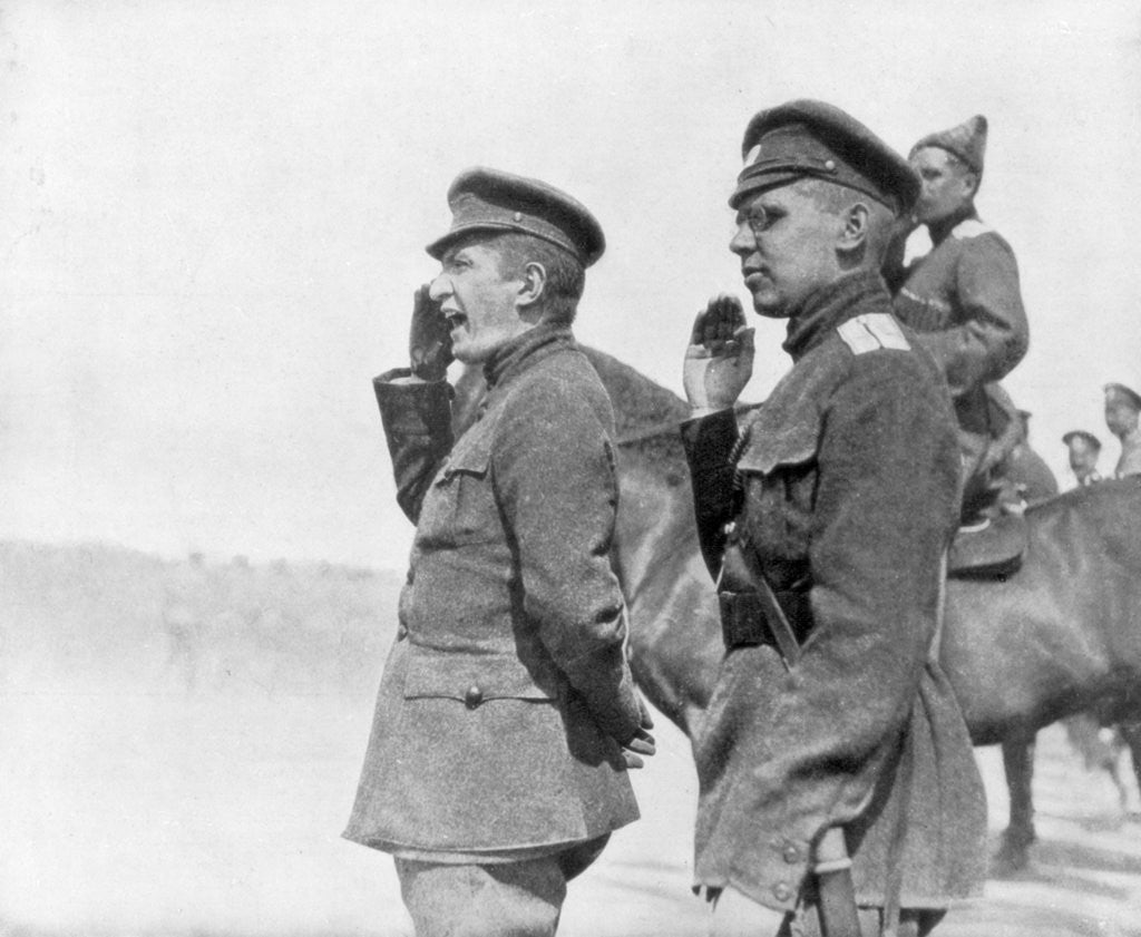 Detail of Alexander Kerensky during a review of Russian troops, First World War by Anonymous