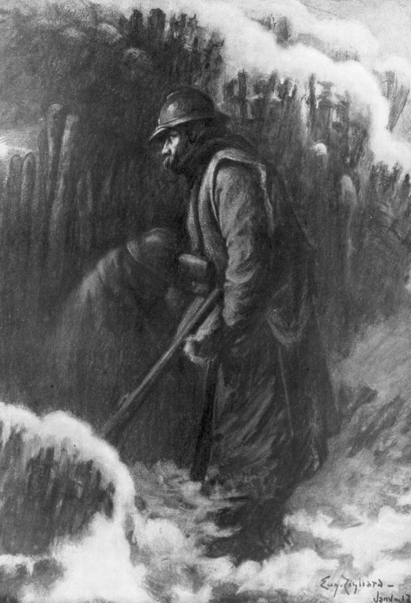 Sentry Duty At A Small Post First World War January