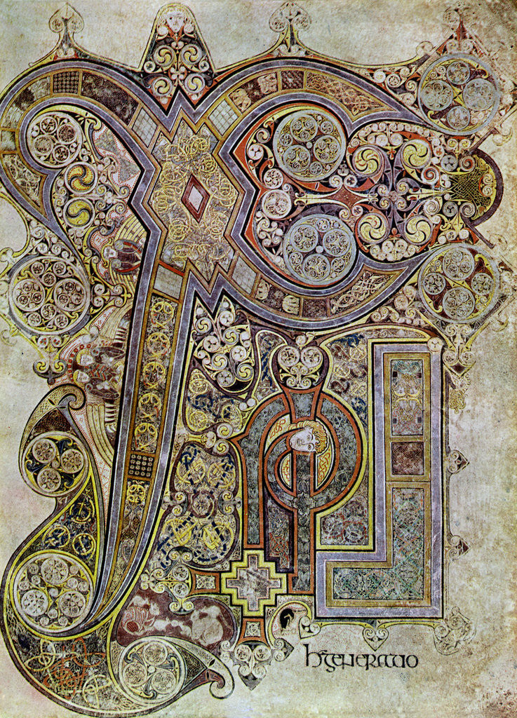 Detail of The Monogram Page, 800 AD by Anonymous