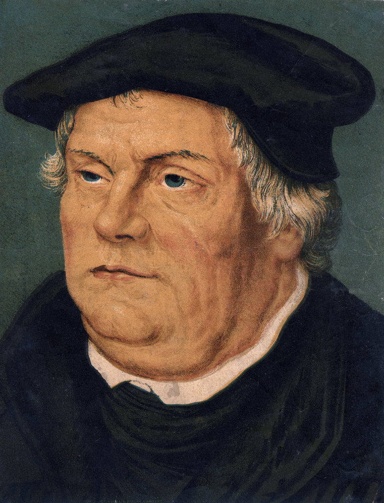 Detail of Martin Luther, 16th century German Protestant reformer by Anonymous