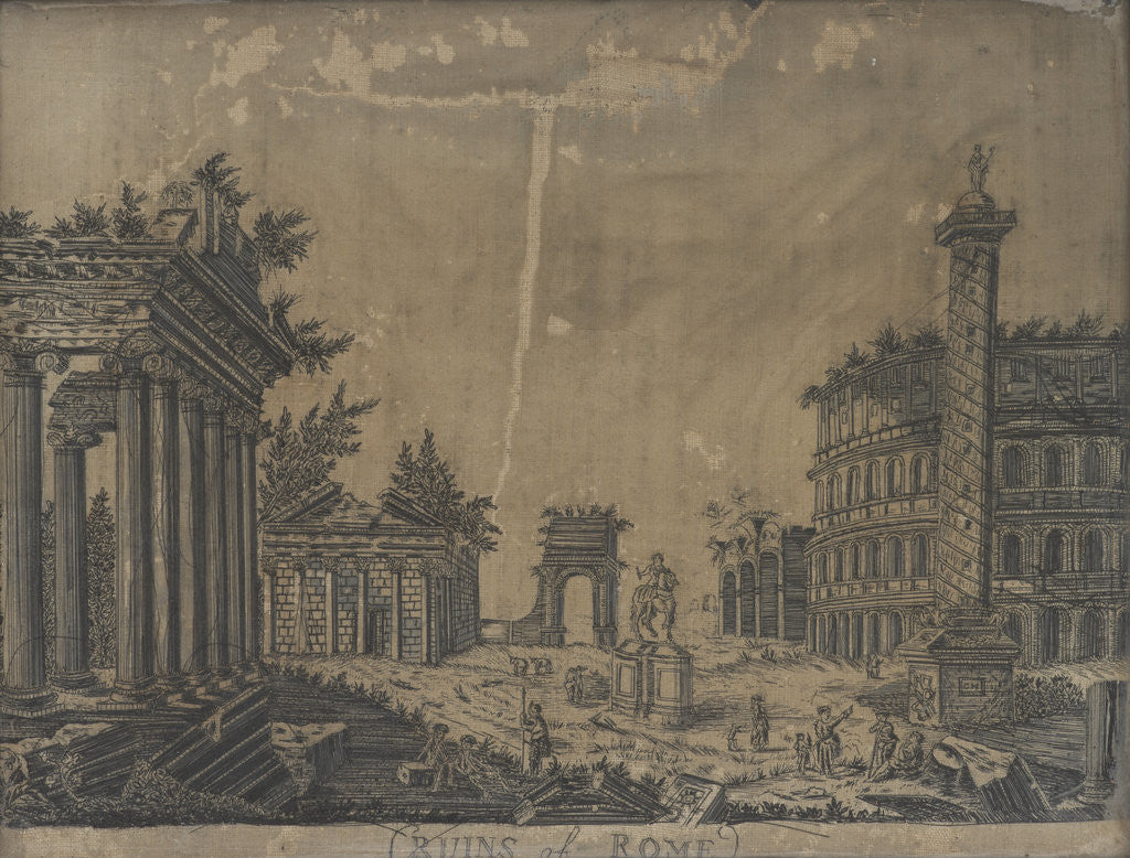 Detail of Ruins of Rome by Anonymous