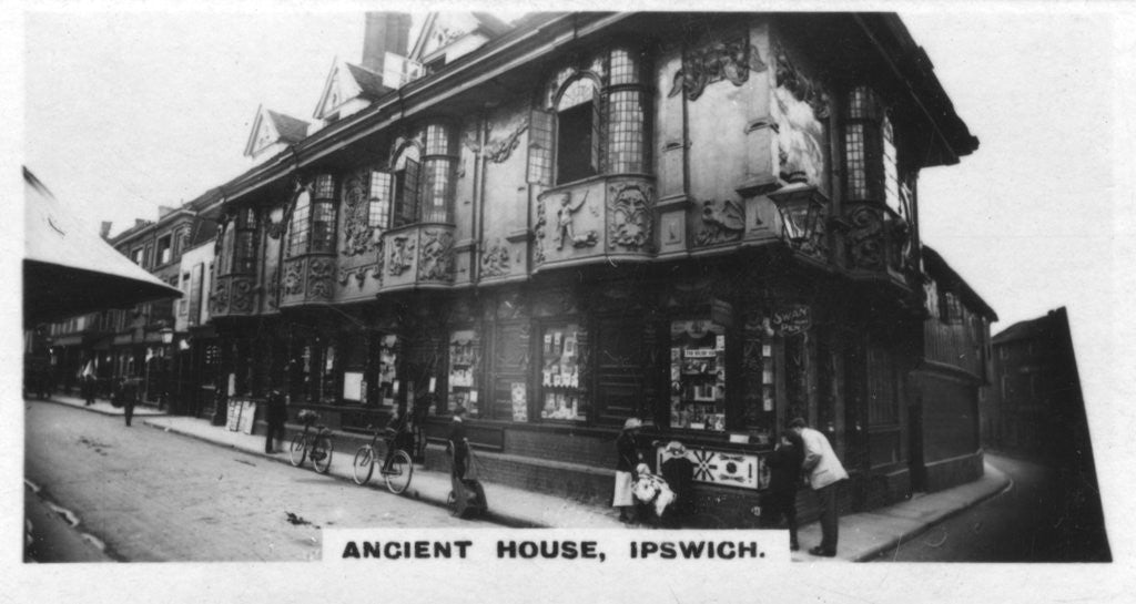 Detail of 'Ancient House, Ipswich', Suffolk by Anonymous