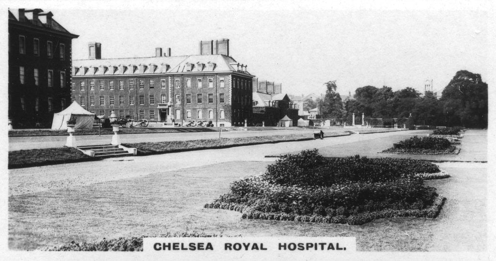 Detail of 'Chelsea Royal Hospital', London by Anonymous