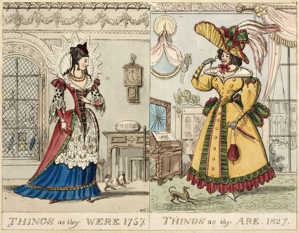 Detail of Things as they were. 1759. Things as thy are. 1827. by Anonymous