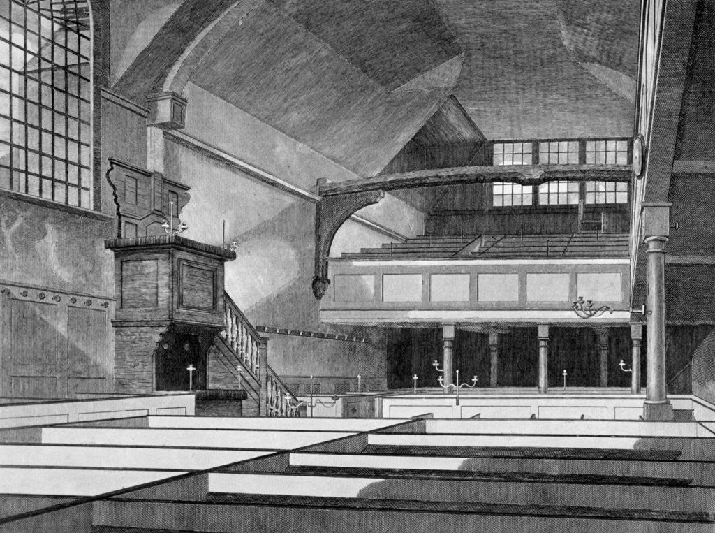 Detail of Interior view of the Church of St Bartholomew-the-Great, Smithfield, City of London by Thomas Dale