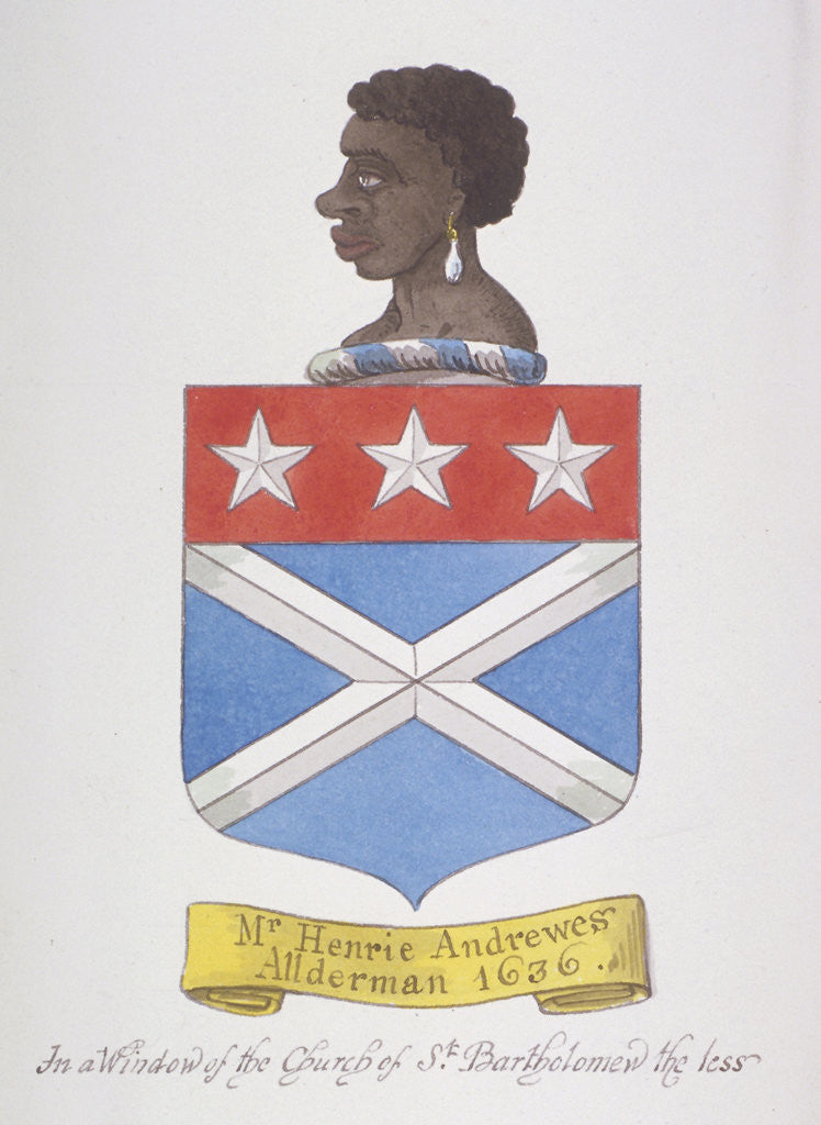 Detail of Coat of arms of Alderman Henry Andrews by Anonymous