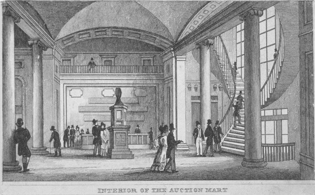 Detail of Interior of the Auction Mart in Bartholomew Lane, City of London by Anonymous