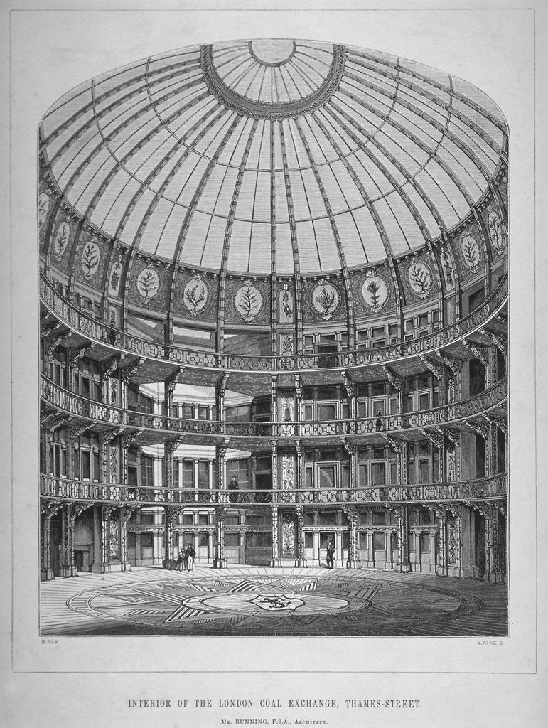 Detail of Interior of the New Coal Exchange, Lower Thames Street, City of London by Laing