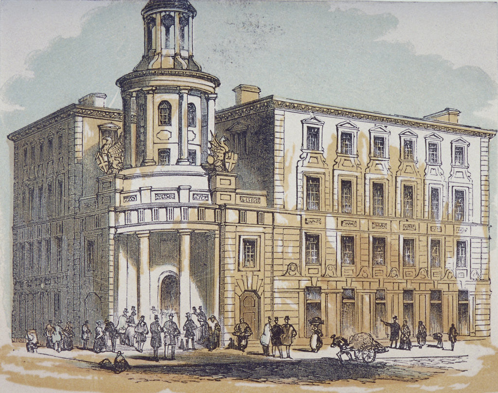 Detail of View of the New Coal Exchange in Lower Thames Street, City of London by Anonymous