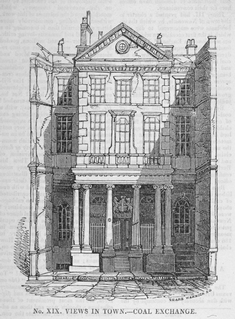 Detail of View of the Coal Exchange in Thames Street, City of London by Anonymous