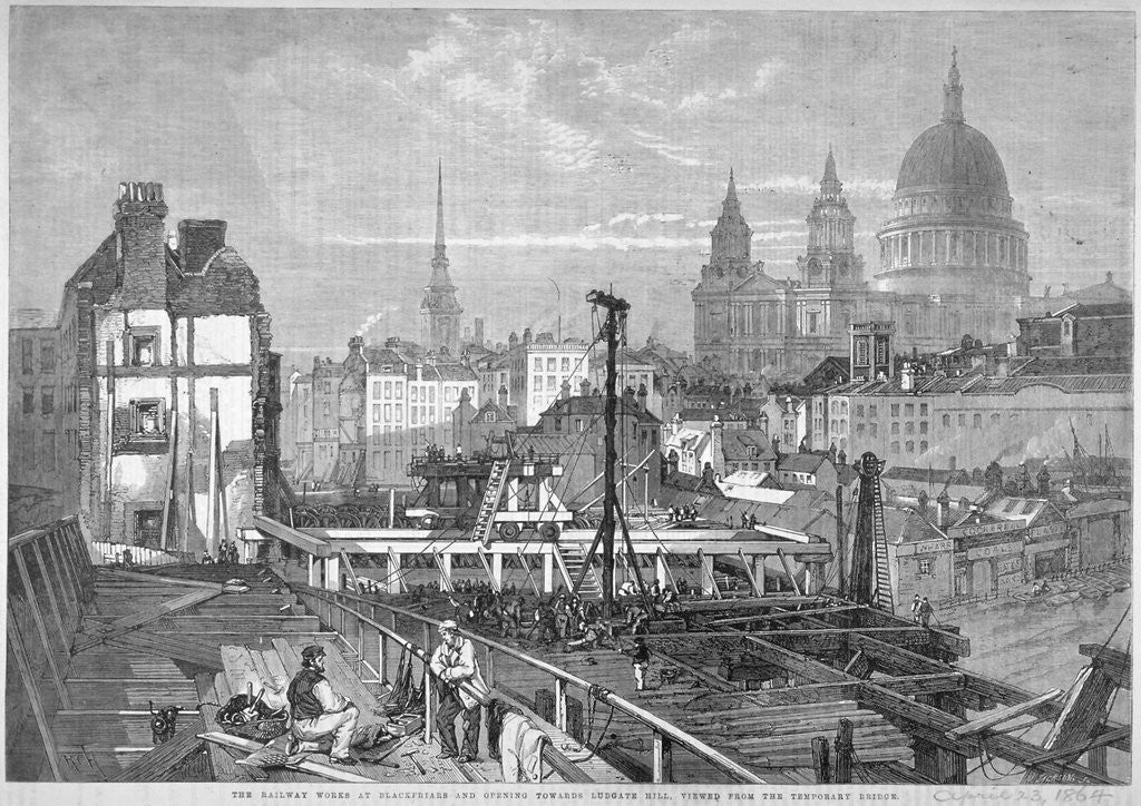 Detail of Blackfriars Bridge, London by Mason Jackson