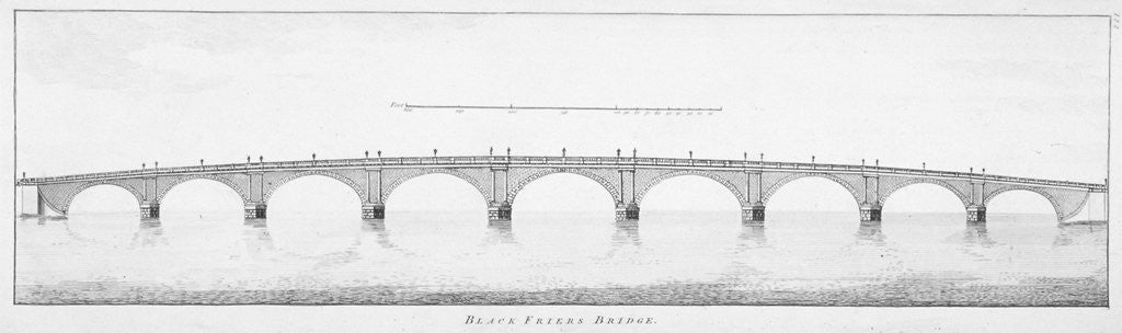 Detail of Longitudinal section of Blackfriars Bridge, London by Anonymous