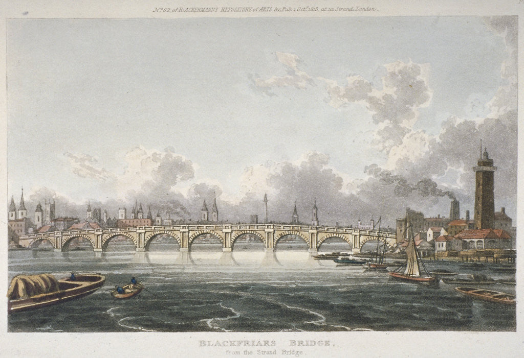 Detail of View of Blackfriars Bridge from the Strand Bridge, London by Anonymous
