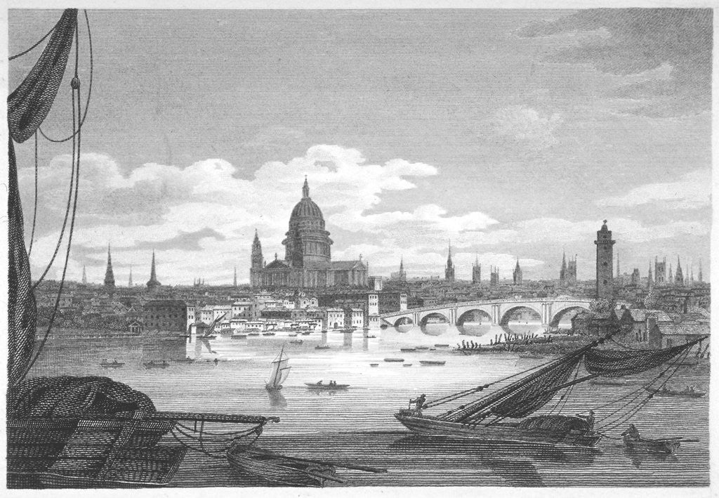 Detail of Looking towards Blackfriars Bridge from the west, London by