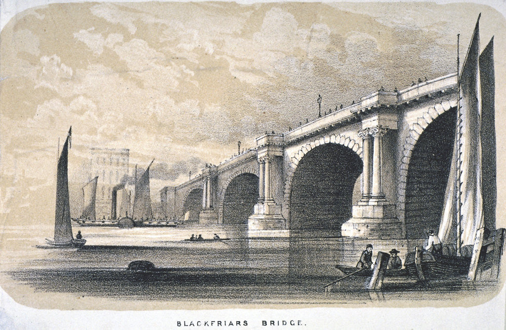 Detail of View of Blackfriars Bridge looking south, London by