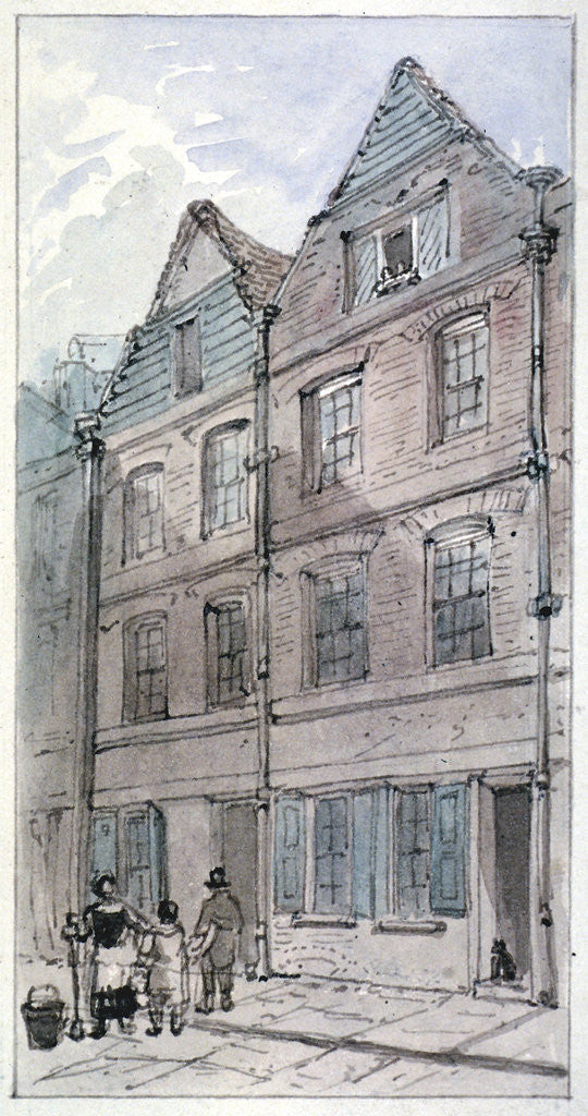 Detail of Houses in Blackhorse Alley, Fleet Street, City of London by James Findlay