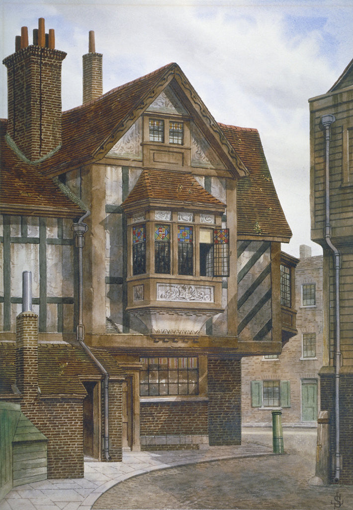 Houses in Bishopsgate, City of London by JL Stewart