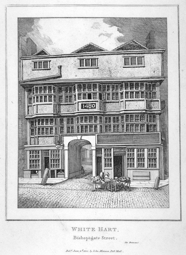 Detail of The White Hart Inn at no 119 White Hart Court, Bishopsgate, City of London by Anonymous