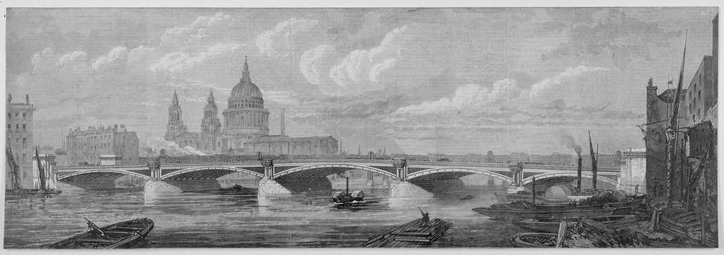Detail of Blackfriars Bridge, London by Anonymous