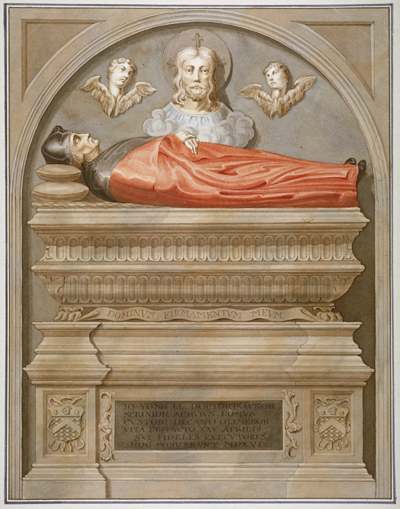 Detail of Monument to Dr John Yonge by Torrigiano in Rolls Chapel, Chancery Lane, City of London by Anonymous