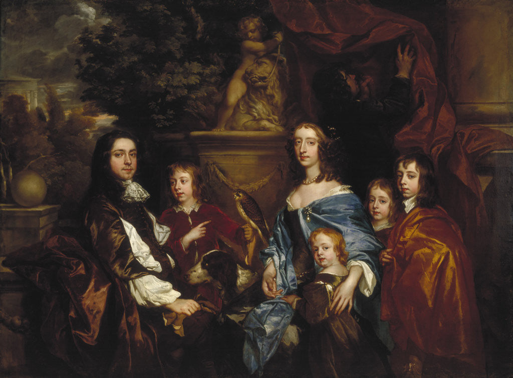 Detail of Sir Edward Hales and his family by Peter Lely