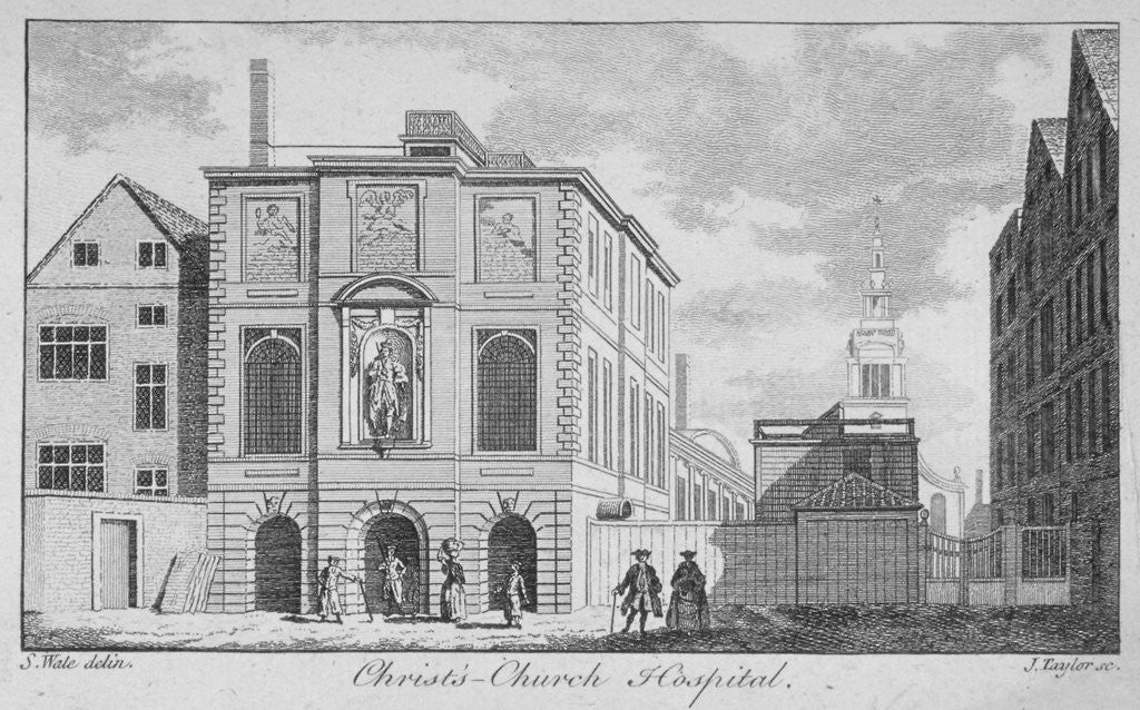 Detail of Christ's Hospital with Christ Church, Newgate Street in the background, City of London by James Taylor
