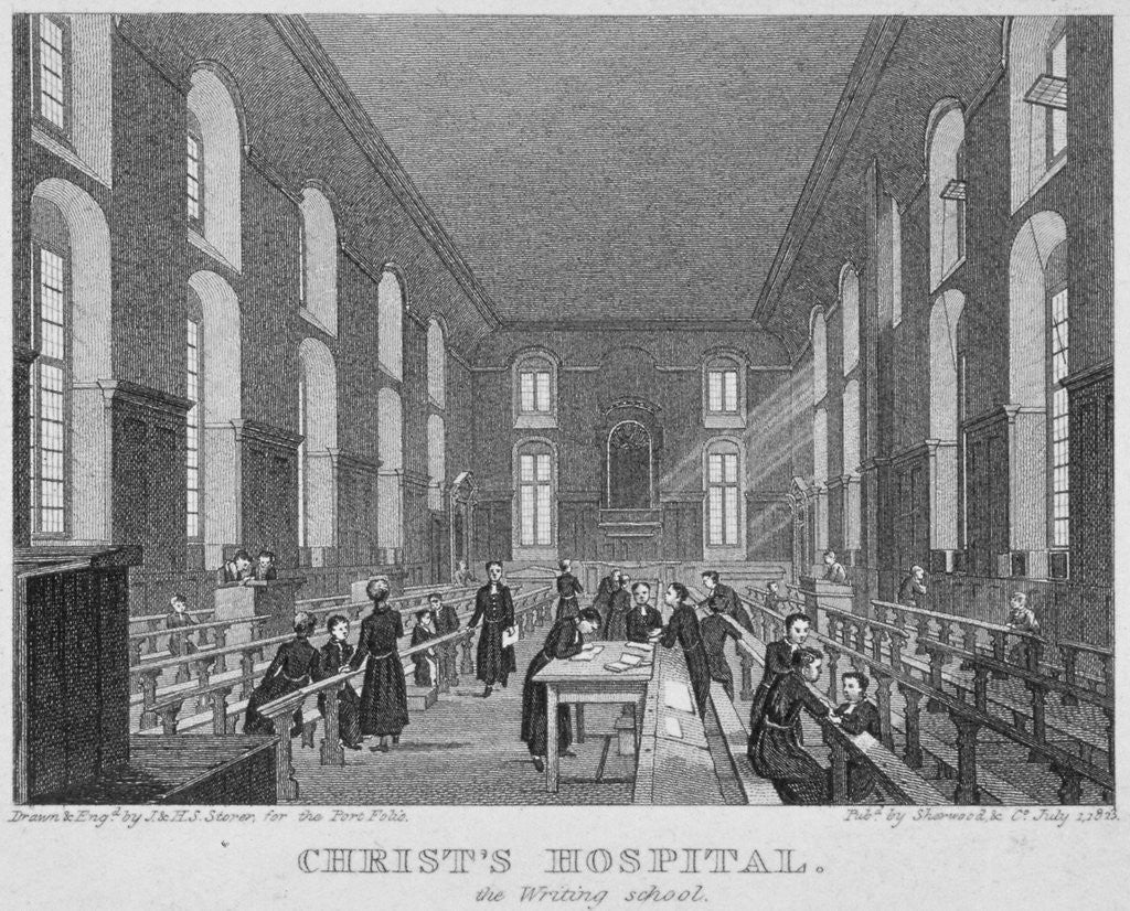 Detail of Christ's Hospital, City of London by