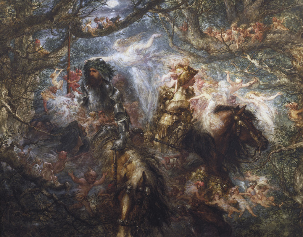 Detail of The Enchanted Forest by Sir John Gilbert