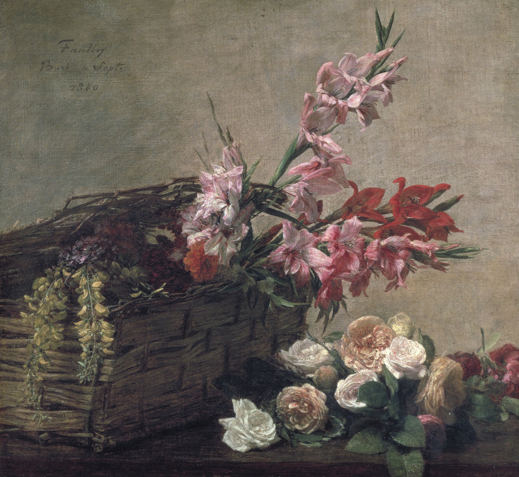 Detail of Gladioli and Roses by