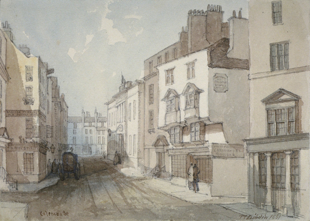 Detail of Coleman Street, City of London by Thomas Colman Dibdin