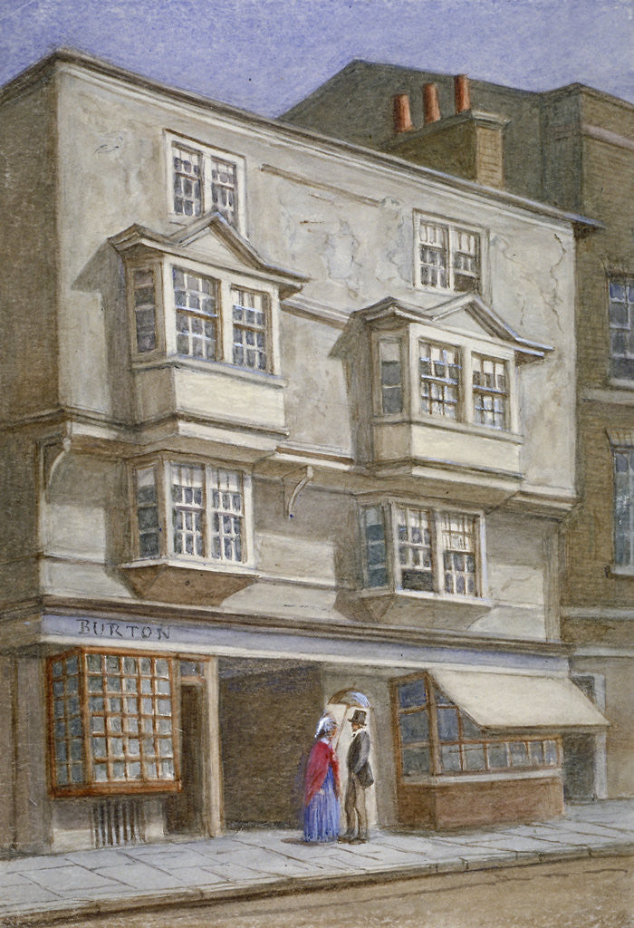 Detail of Coleman Street, City of London by JT Wilson