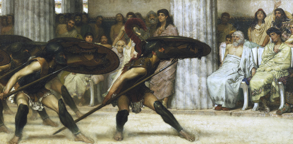 Detail of The Pyrrhic Dance by Sir Lawrence Alma-Tadema
