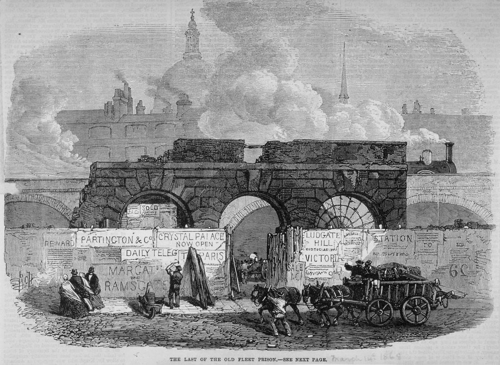Detail of The remains of Fleet Prison, City of London by Anonymous