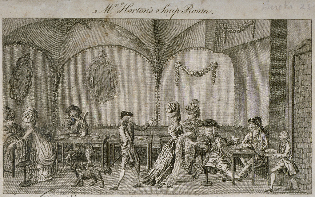 Detail of Interior view of Mr Horton's Soup Room, Cornhill, City of London by Anonymous