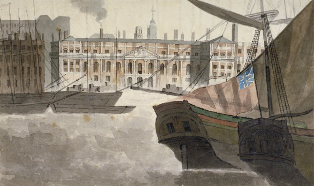Detail of View of the Custom House from the River Thames, City of London by Anonymous
