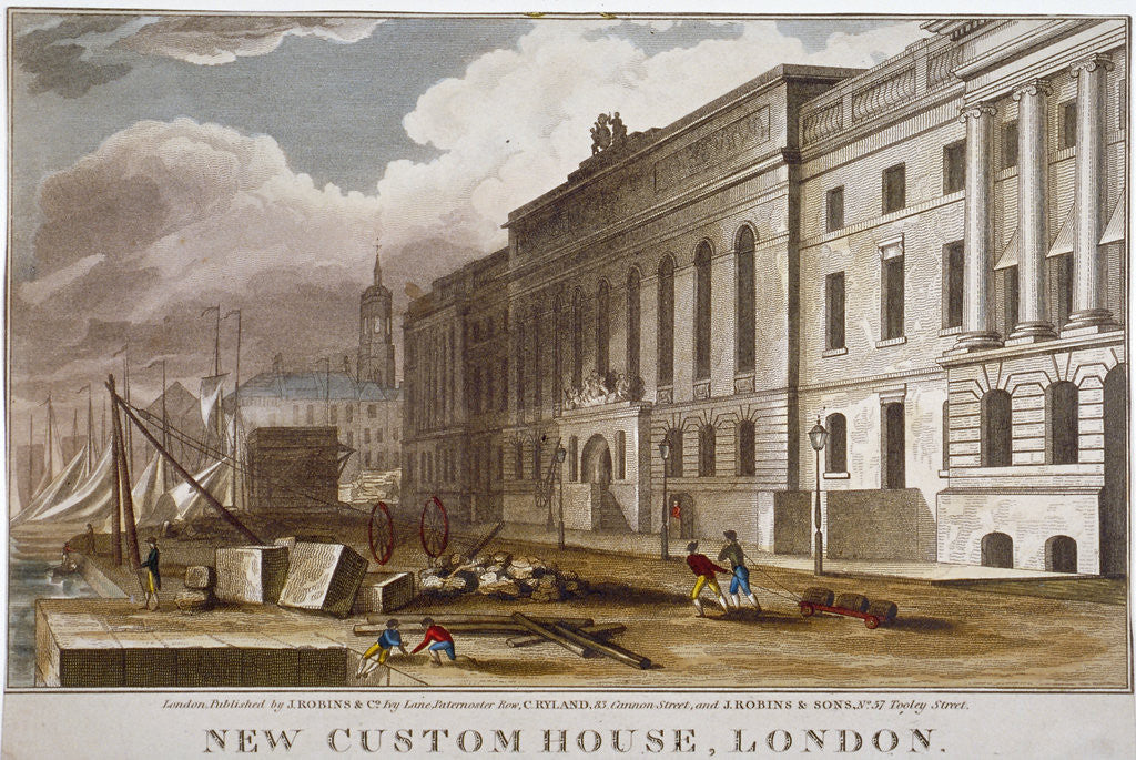 Detail of Custom House, City of London by Anonymous