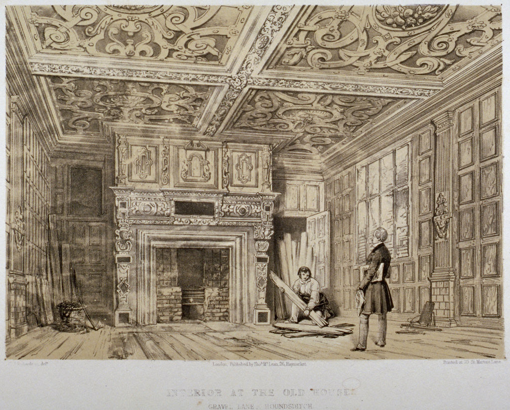 Detail of Interior of the Old House, Gravel Lane, City of London by Anonymous
