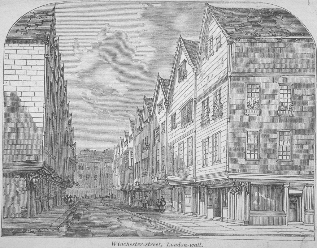 Detail of View of Great Winchester Street, City of London by Anonymous