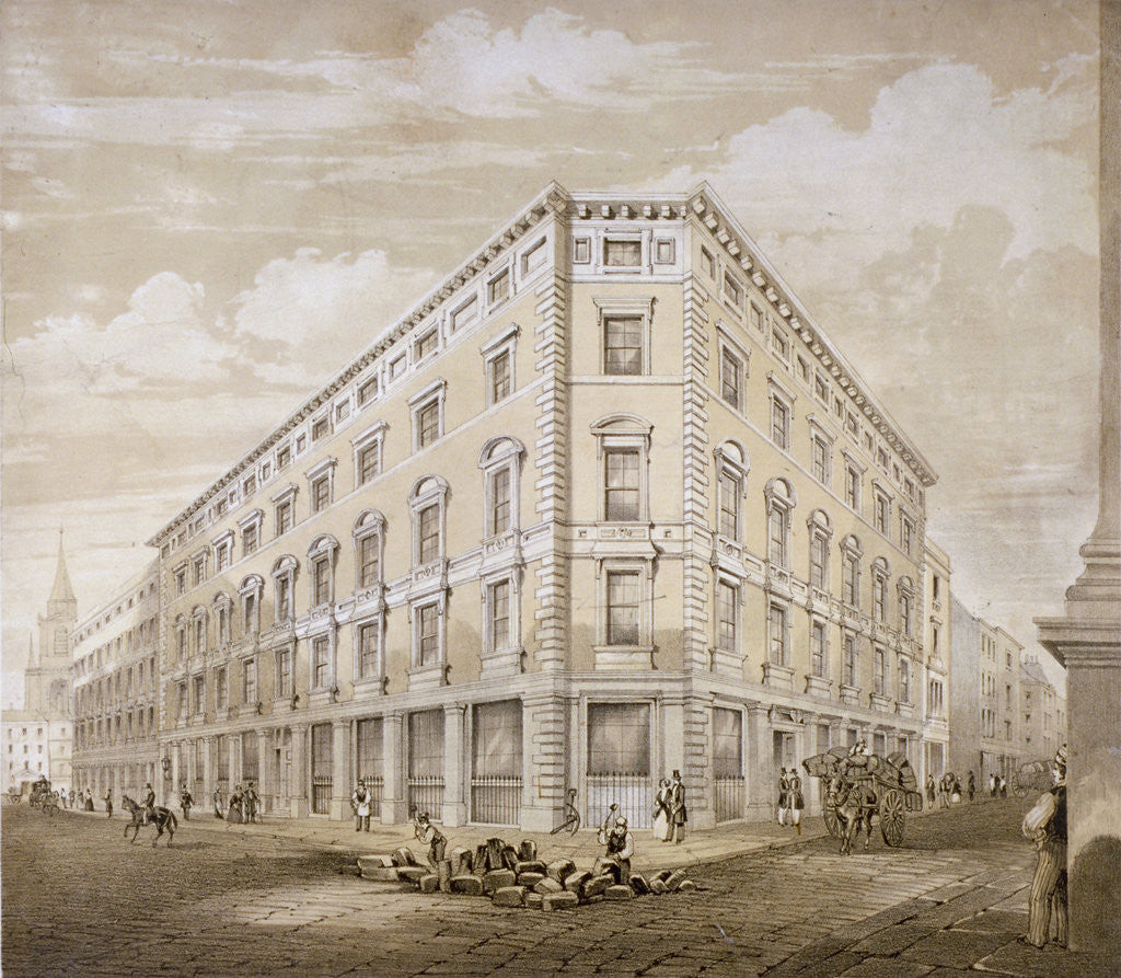 Detail of Gresham Street, City of London by Martin & Hood