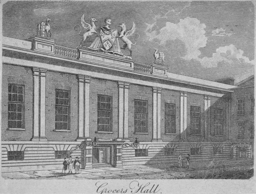 Detail of Front view of Grocers' Hall, City of London by Anonymous