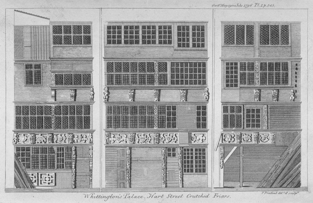 Detail of House in Hart Street, Crutched Friars, City of London by