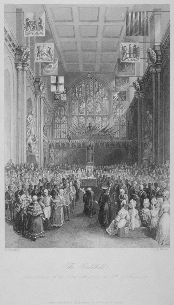Detail of Installation of the Lord Mayor of London at the Guildhall, City of London by Harden Sidney Melville